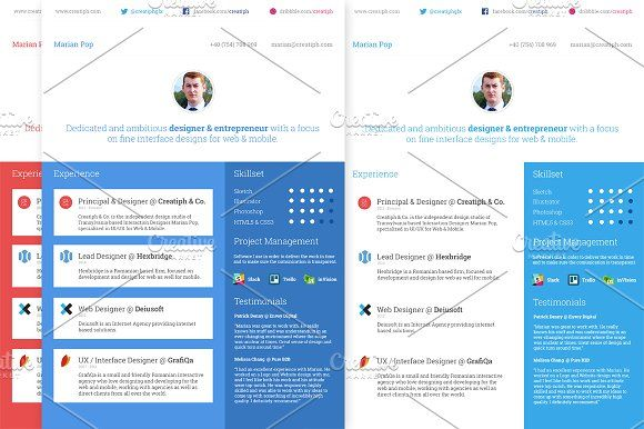 Resume - Multiple Styles by Creatiph Market on @mywpthemes_xyz