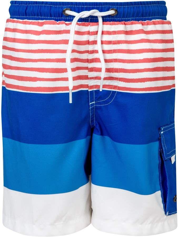 fbcdd7c9fd Boy's Snapper Rock Sail Stripe Swim Trunks, Size 12 - Blue ...