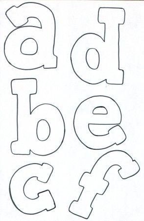 Lettere minuscole schema feltro schemi letras - Schemi animali stampabili ...