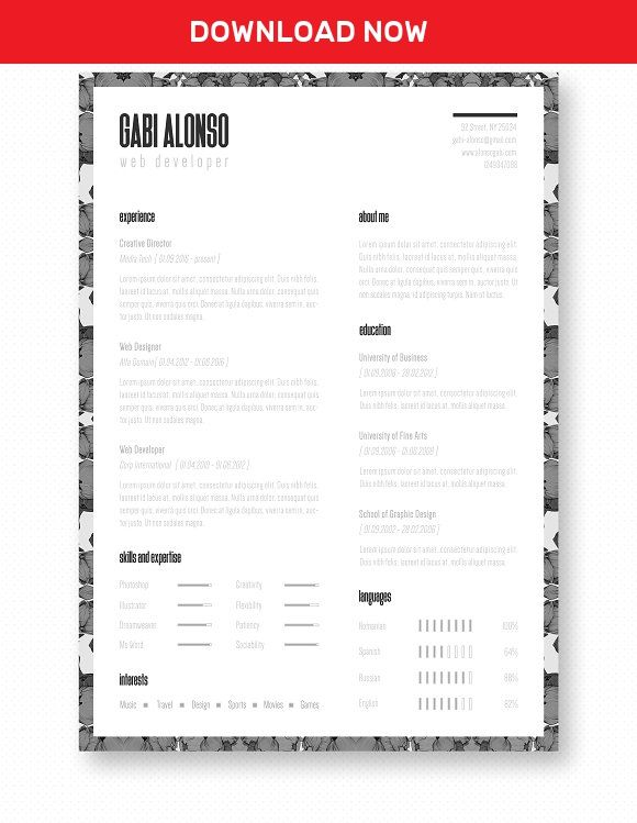 Professional Resume / CV Template by The Path on @mywpthemes_xyz