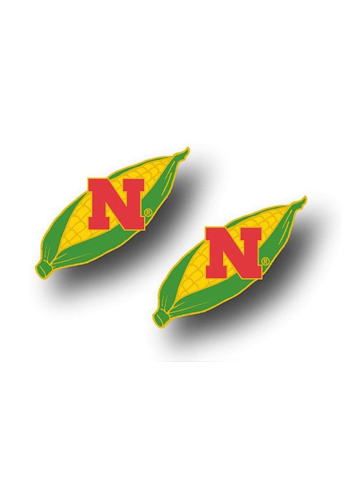 Nebraska Cornhuskers Earrings- Team Logo w/ Corn Cob Post Earrings  $7.99