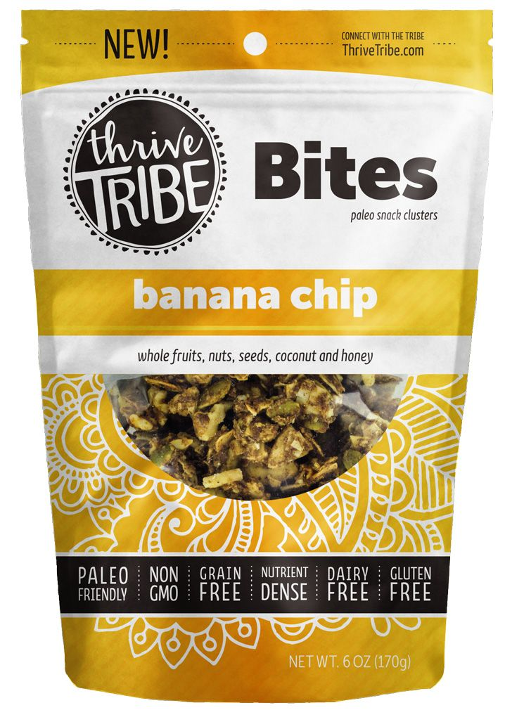 6 oz Banana Chip Clusters by Thrive Tribe - Wild Mountain Paleo - new tribal blueprint diet