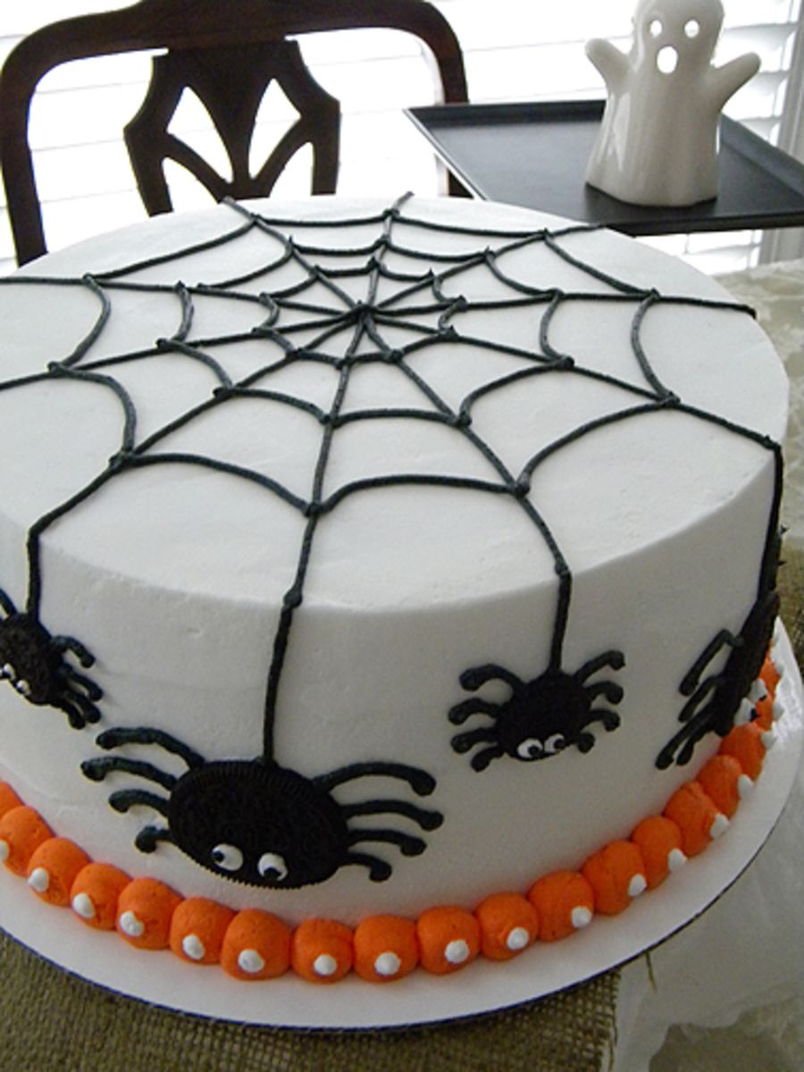 Sensational Spider Cake For Trey With Images Halloween Cake Decorating Funny Birthday Cards Online Barepcheapnameinfo
