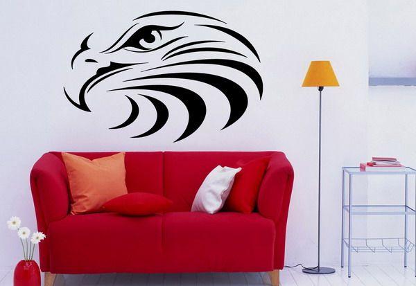 Abstract Eagle Vinyl Wall Murals Design Ideas - Best Wall Murals and Ideas