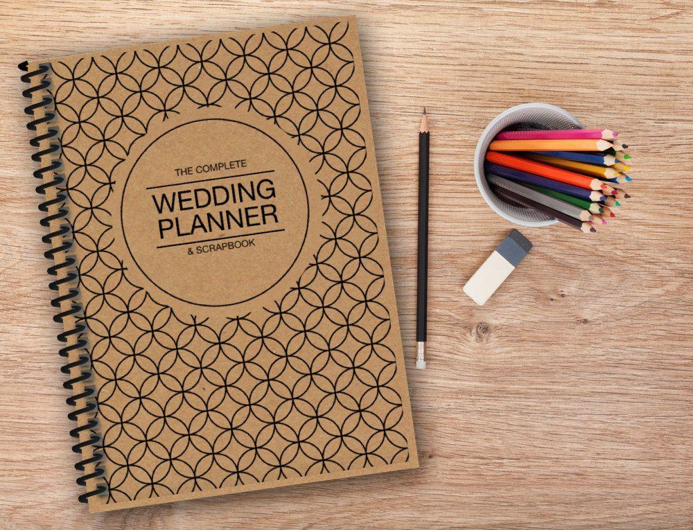 Wedding Planner - Ultimate Wedding Organiser with Kraft style Cover | Planner scrapbook ...