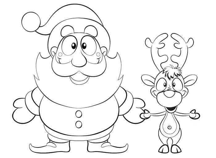 beautiful with reindeer template faces templates | Santa ...