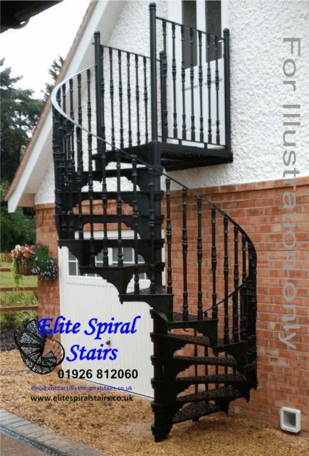 1830mm Dia Victorian Design Cast Iron Spiral Stairs