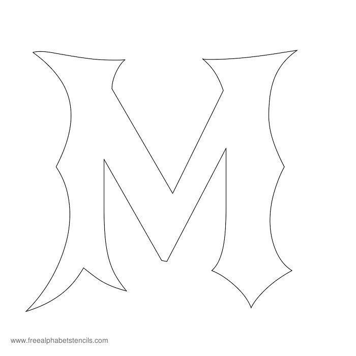 Gothic Alphabet Stencil M