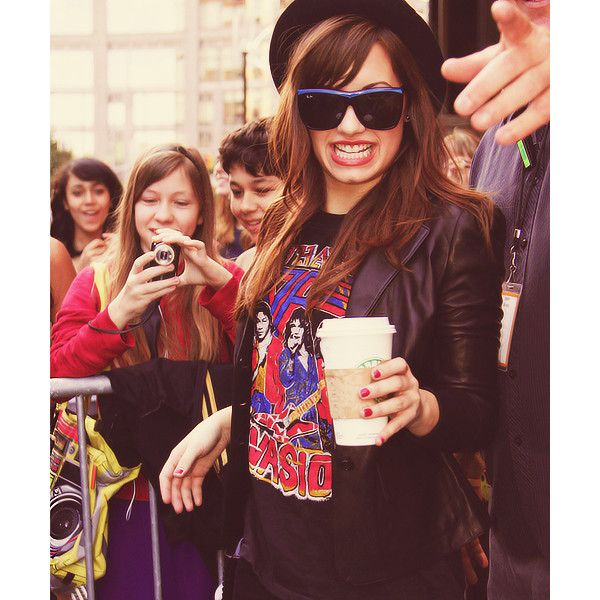 Demi Lovato icon by Kristen. ❤ liked on Polyvore