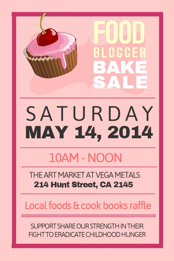 Bake Sale Flyer Template Charity Campaigning And