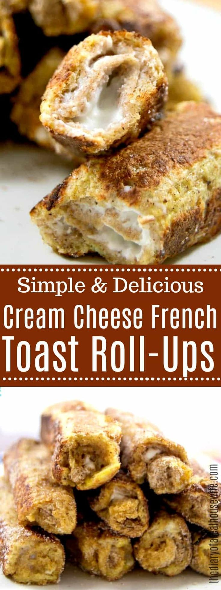 Photo of LOVE these French toast roll-ups with cream cheese. The perfect simple breakfast …