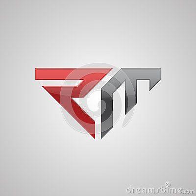 Sport Auto Logo Concept Letter R And M Logo Concept Initials Logo Design Car Logos