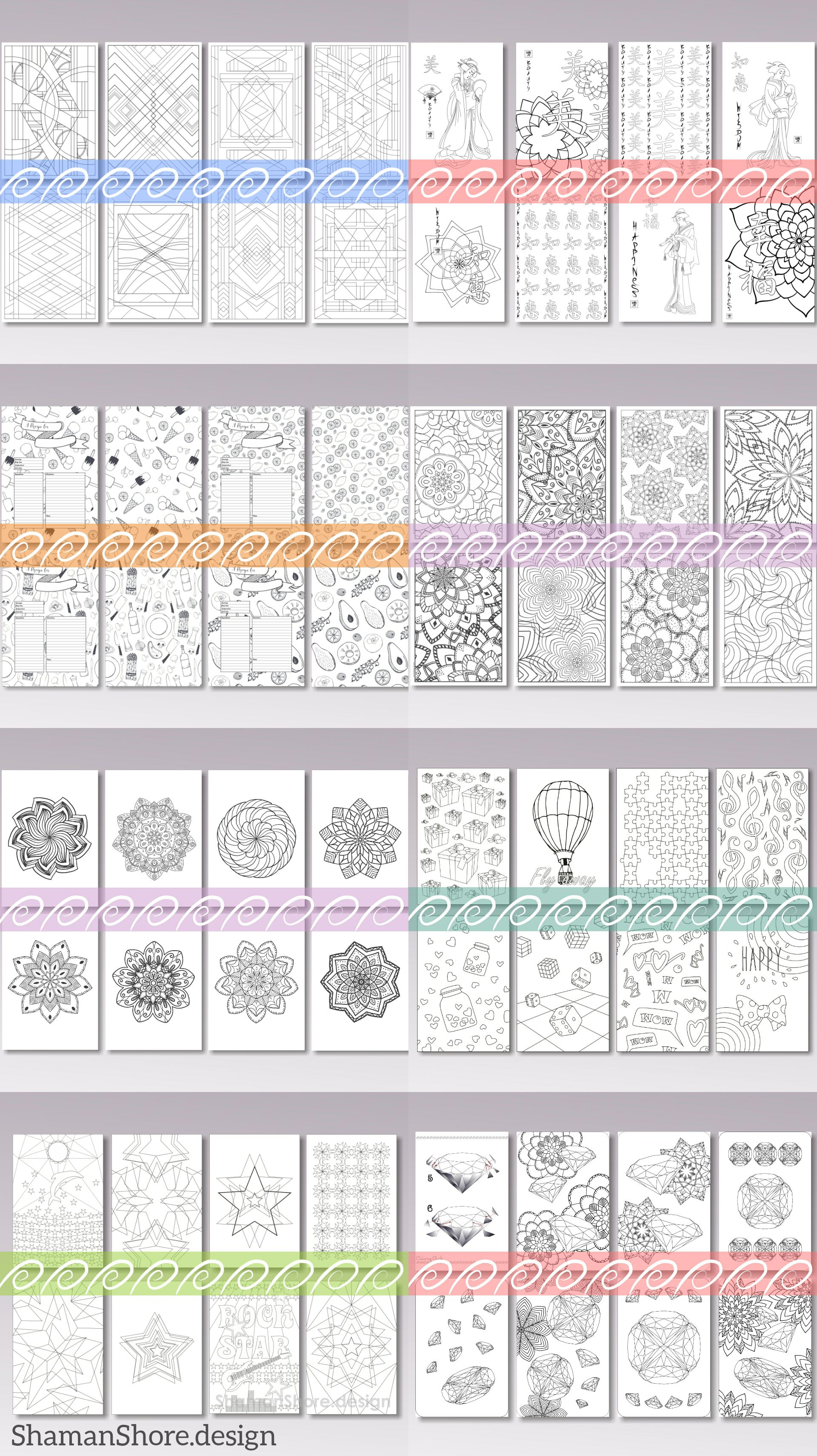 #ShShPrintables A bundle of 7 adult coloring books | Coloring pages for grown ups on Etsy | Printable coloring pages for adults, digital download Pdf