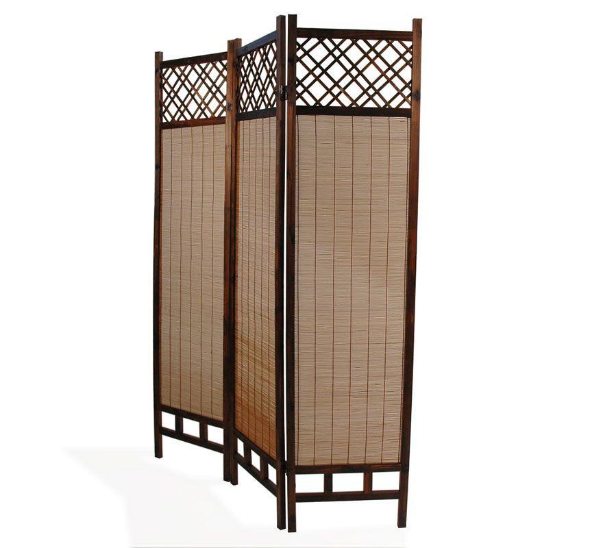 Paravent Aus Bambus Und Tannenholz Niha Spanische Wand Holz Bambus