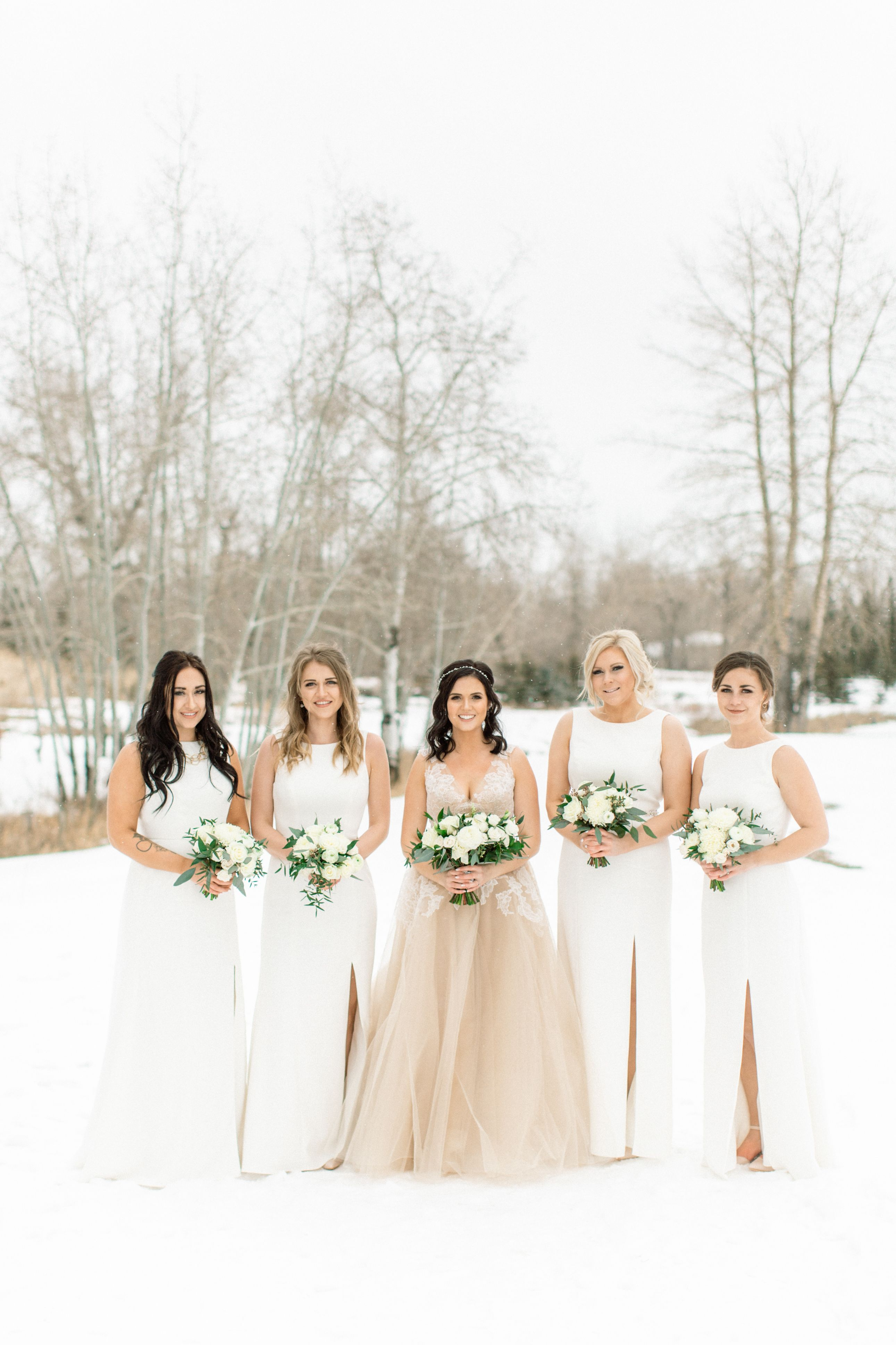 Our Beautiful Winter Bride Work A Champagne Bridal Gown And Her