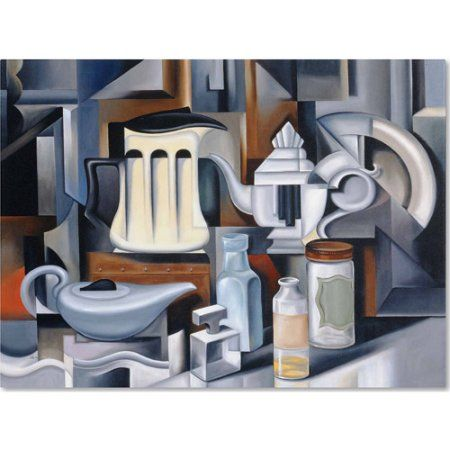 Trademark Fine Art Still Life With Teapots Canvas Art by Catherine Abel, Size: 14 x 19, Multicolor