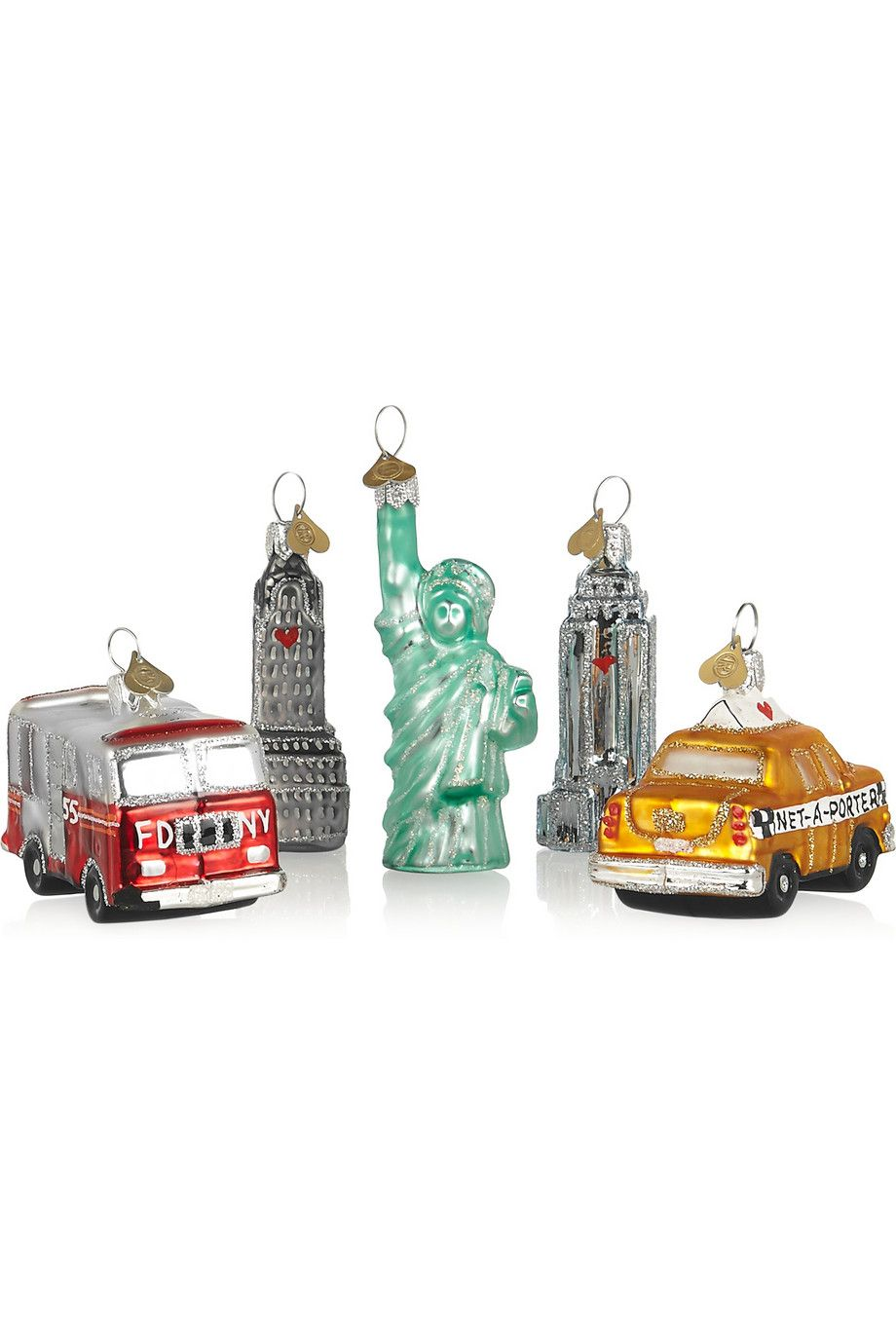 Little London Set Of Five Glass Baubles - Clear Bombki XzgGB2LwS