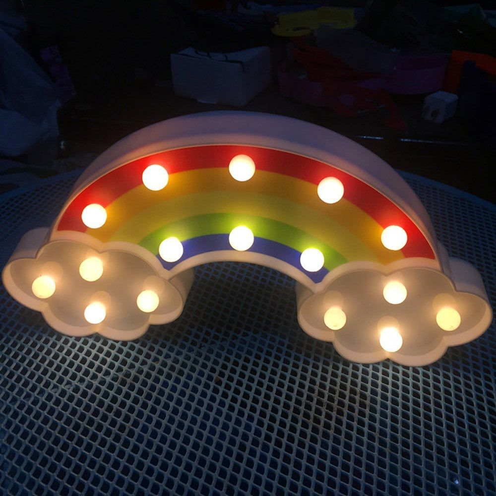 Cute Colours Of The Rainbow Shaped Led Lamp Children Room