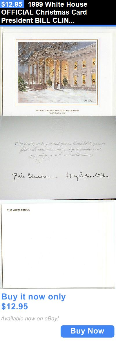Bill Clinton 1999 White House Official Christmas Card President