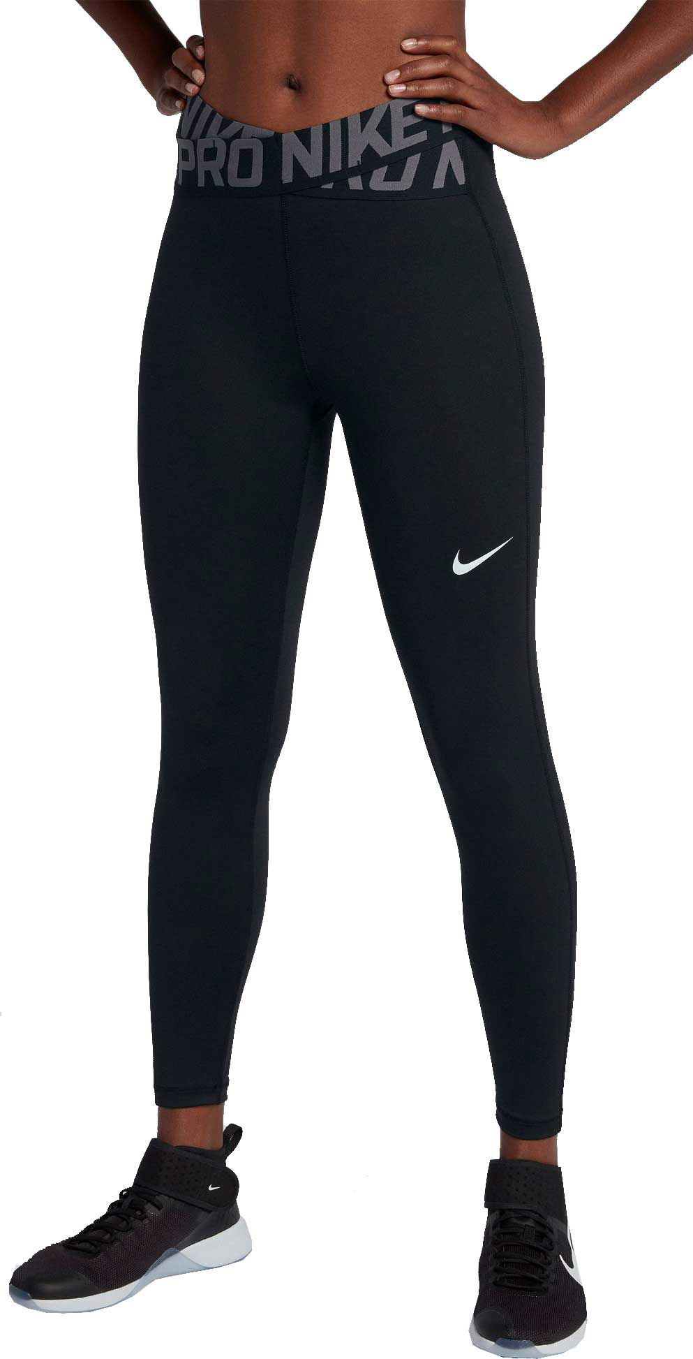 d504e16315d9ab Nike Women's Pro Intertwist 7/8 Training Tights, Size: Medium, Black ...