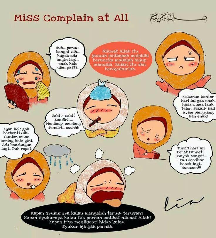 stop complaning Yang Dipakai Pinterest Islam