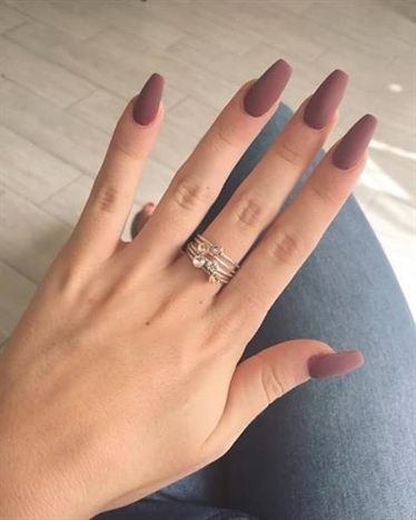 brown matte nails design