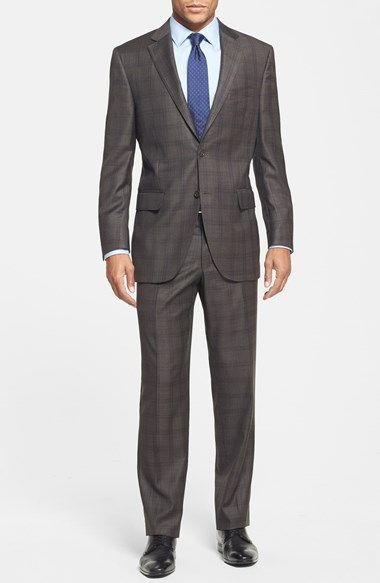 3181393ea95e26 How bad ass is this suit?! Peter Millar 'Flynn' Classic Fit Plaid Suit  available at #Nordstrom