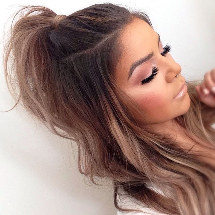 23 super easy long hairstyles girls will love long hairstyle half uphalf down the best way for me to get it right on my own hair is tons of dry shampoo for a nice gritty dry texture at the roots and fine urmus Images