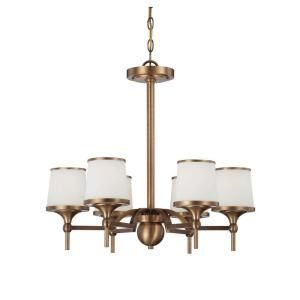 Filament Design Satin 6-Light Ceiling Heirloom Brass Incandescent Chandelier-CLI-SH0233135 at The Home Depot
