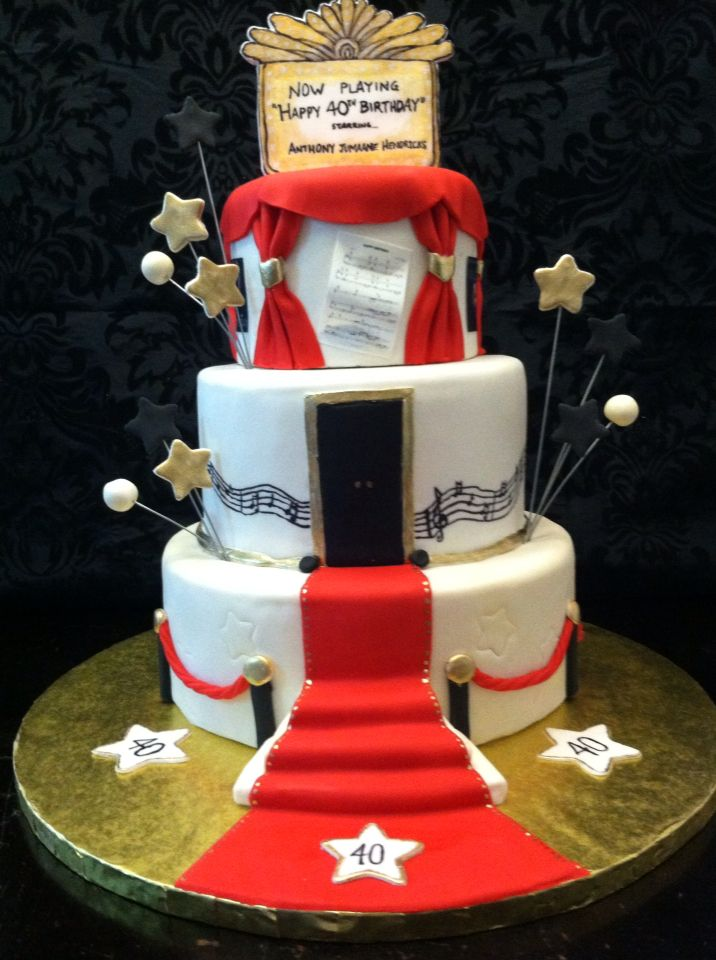 Broadway Red Carpet 40th Birthday Cake Birthday Cakes Pinterest