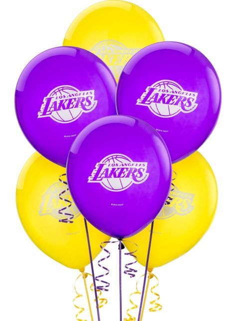 Los Angeles Lakers Latex Balloon 12in 6ct