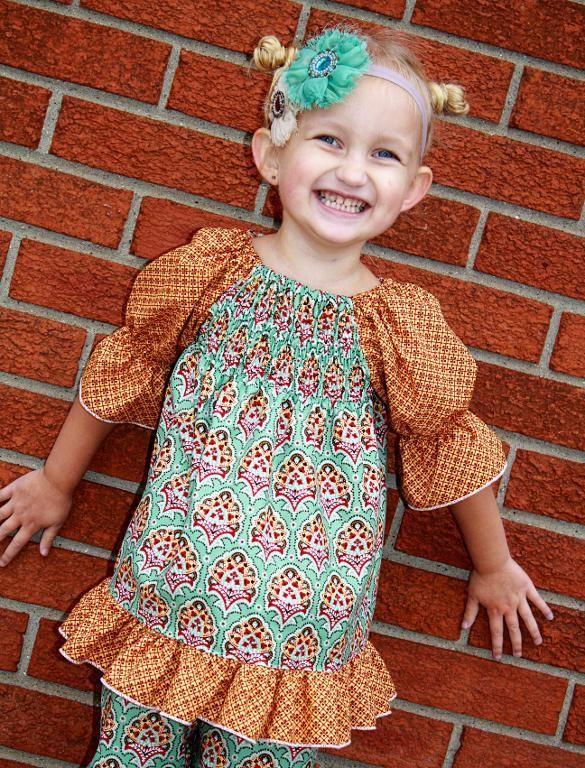 Matilda's Shirred Peasant Top and Dress - via @Craftsy