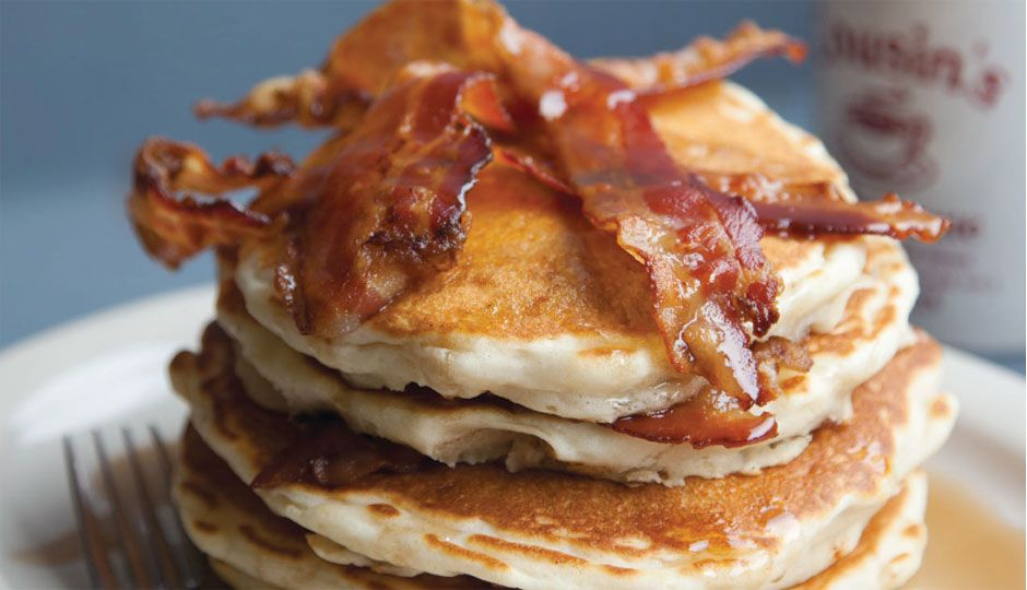 Best hangover cure - Bacon cakes at the Grubhouse. Photo by Courtney Apple