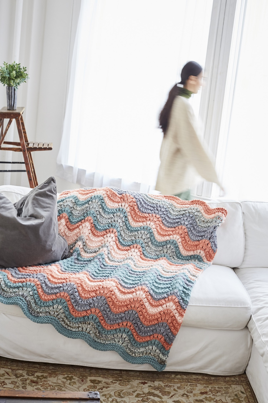 Elbridge Afghan (Knit) - Patterns | Lion Brand Yarn in ...