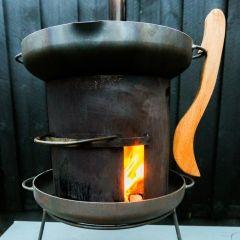 Rustic handmade outdoor fireplace. Steel. Danish. SelvforsyningsCentralen - Butik