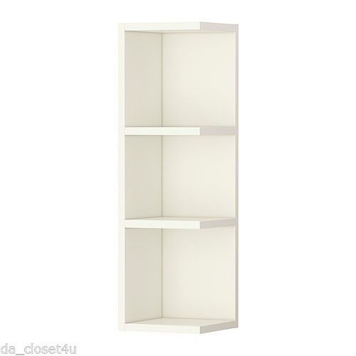 Ikea Corner Shelf Wall End Unit Cabinet Open Bathroom Storage Llilangen White