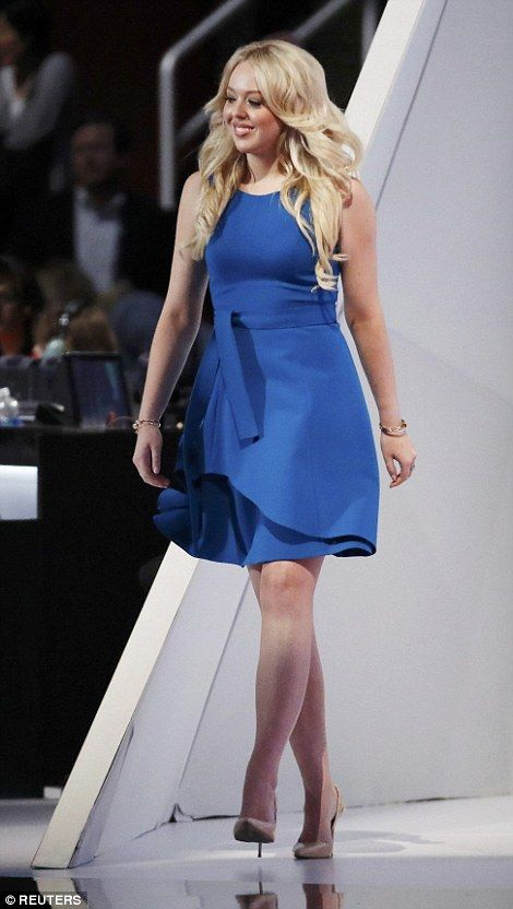 Donald Trump S Daughter Tiffany Pay Tribute To Her Father At The Republican Convention Daily Mail Online