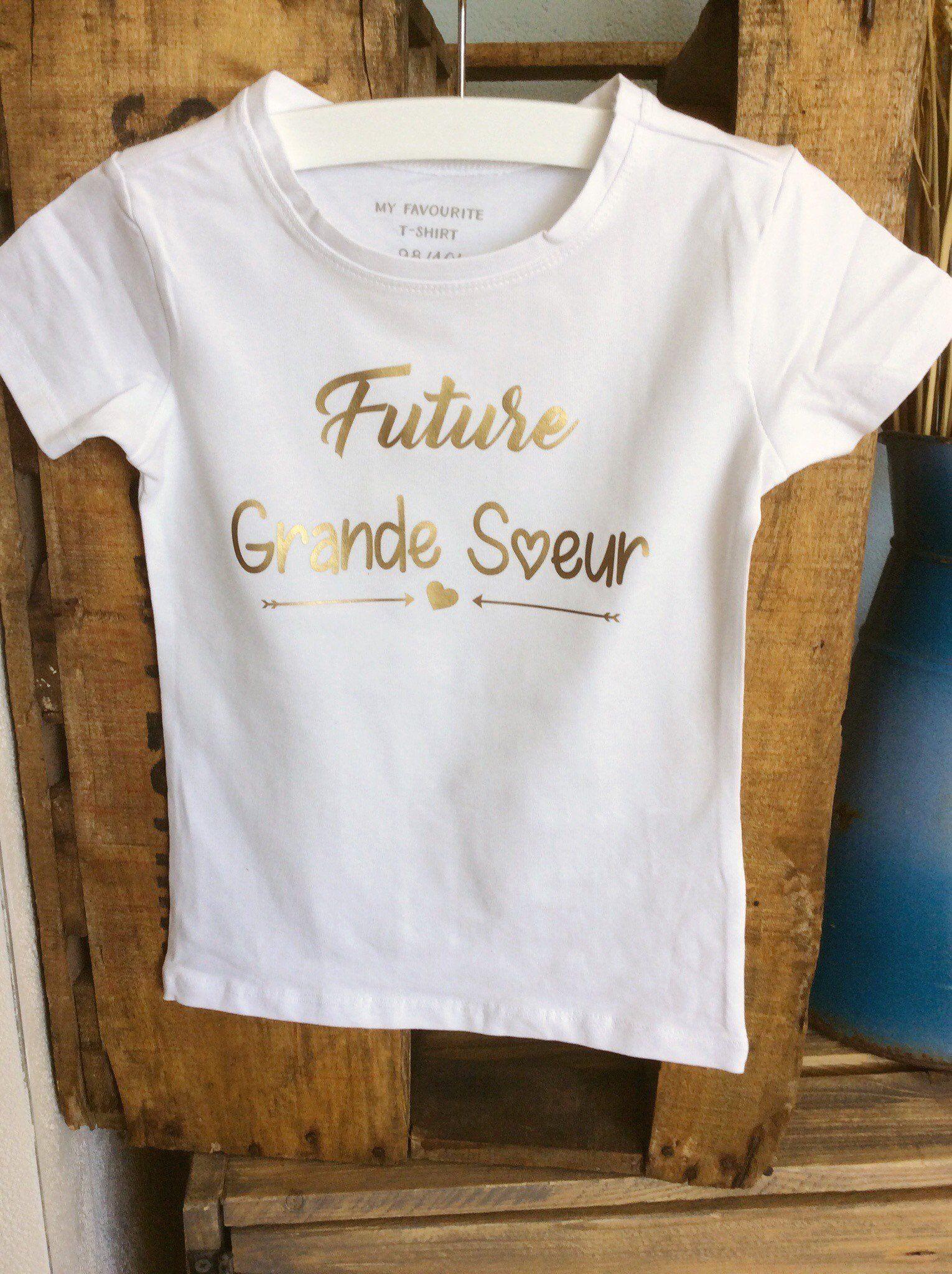 Big Sister Tshirt Tee Shirt Future Big Sister Birth Announcement
