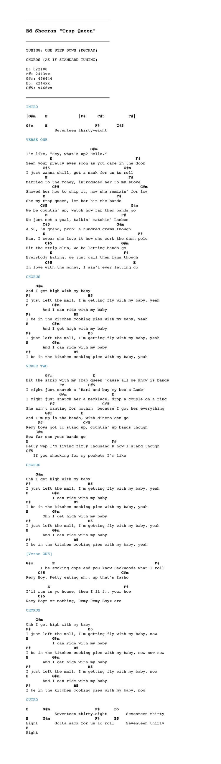 Chordistry Ed Sheeran Alphabetofpromises
