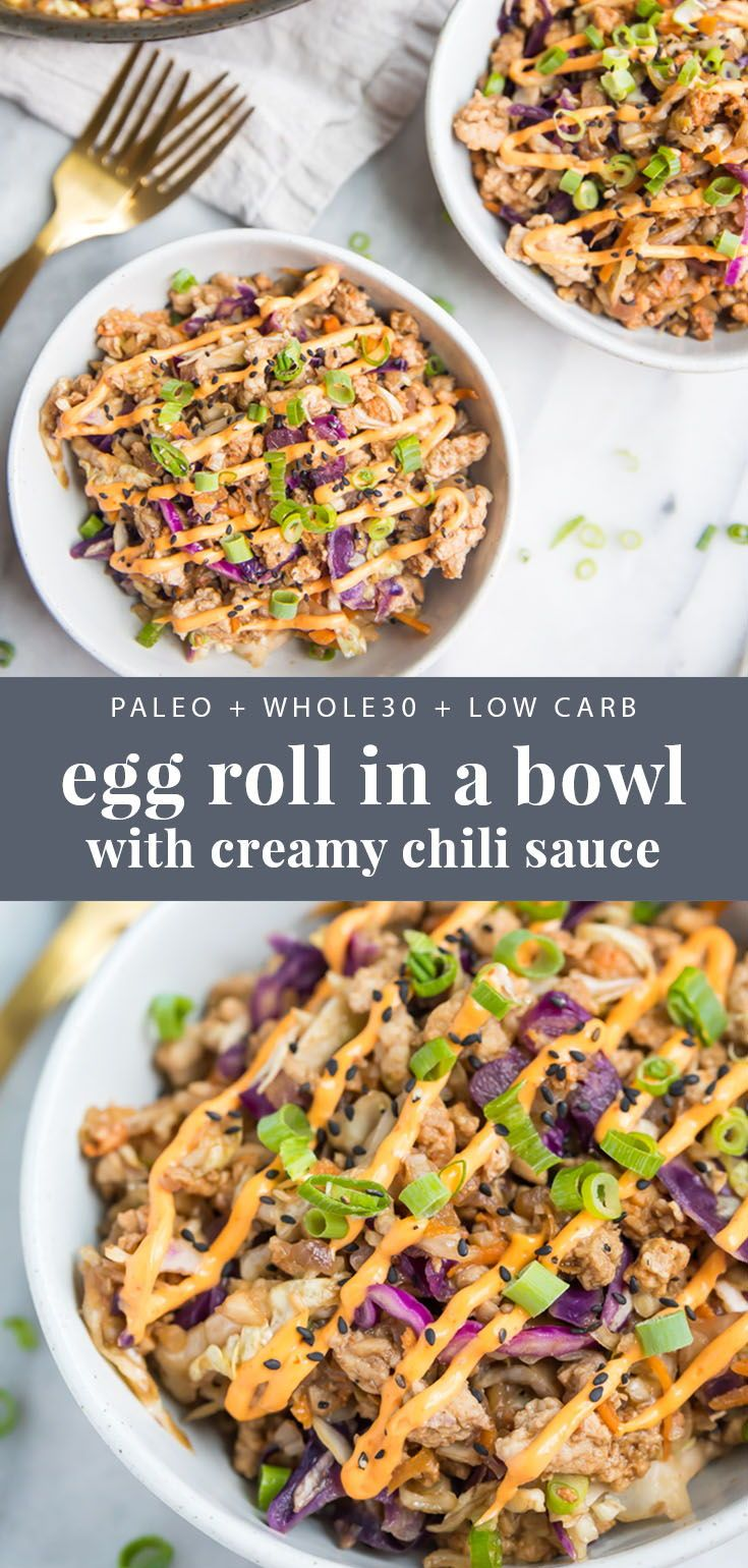 Egg Roll in a Bowl (Whole30, Keto, Paleo, Low Carb) images