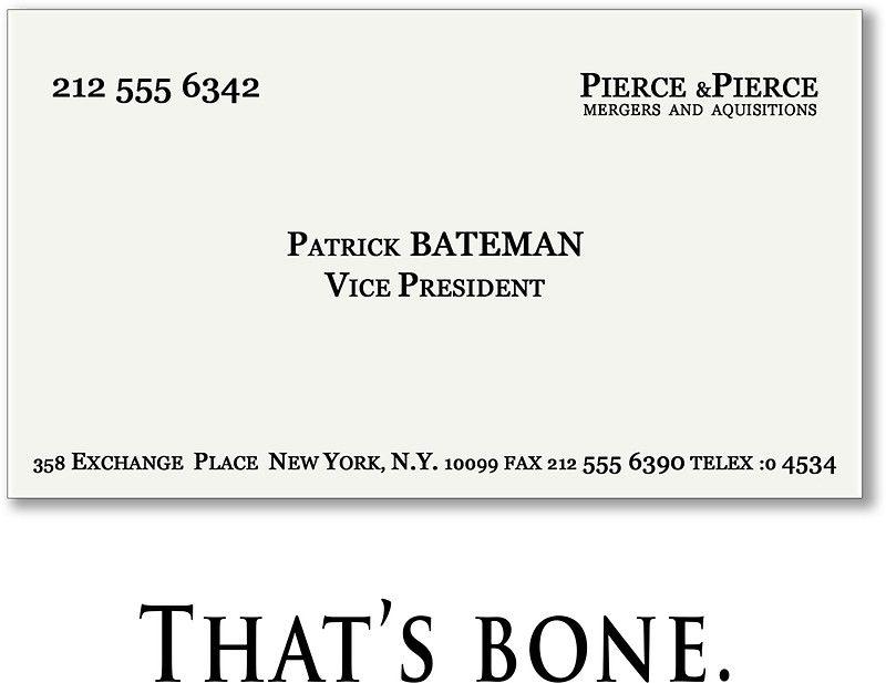 Carte De Visite Thats Bone
