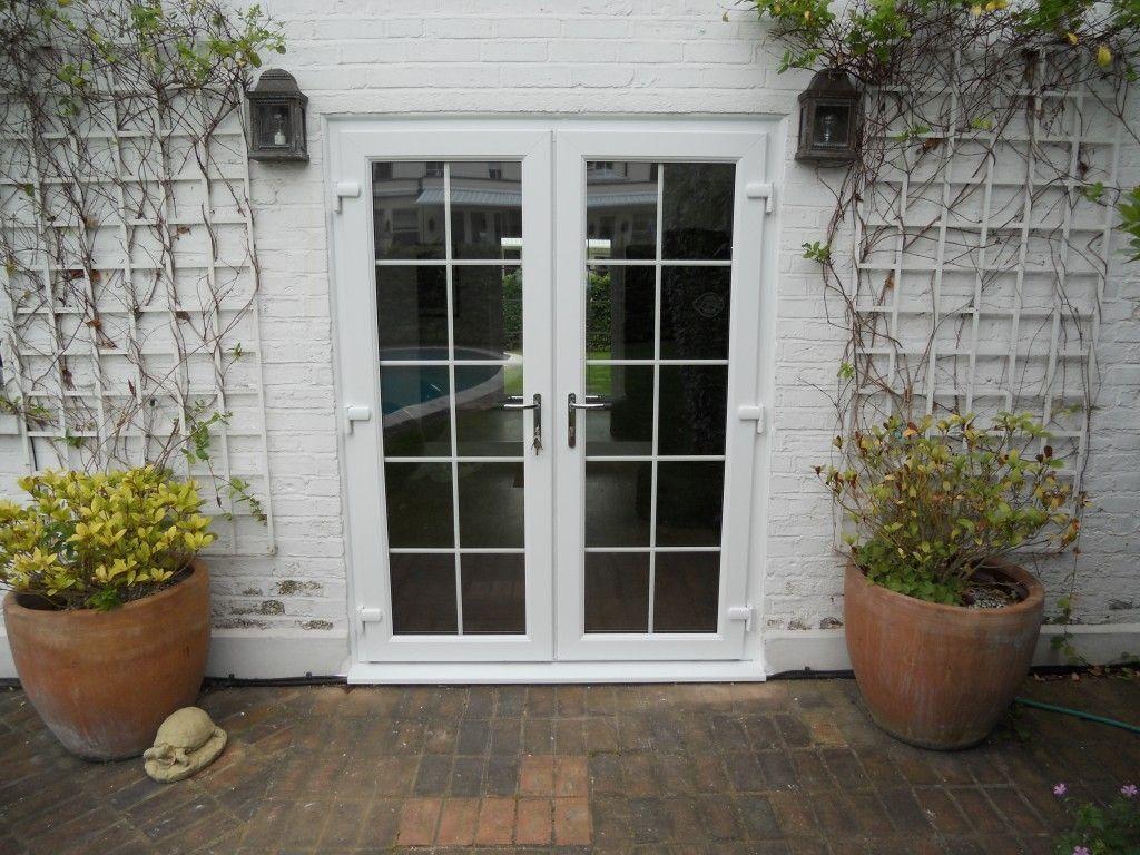 Double french doors exterior upvc