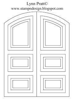 Stamp N Design Double Door Decorated For Christmas Card Making Templates Cards Window Cards