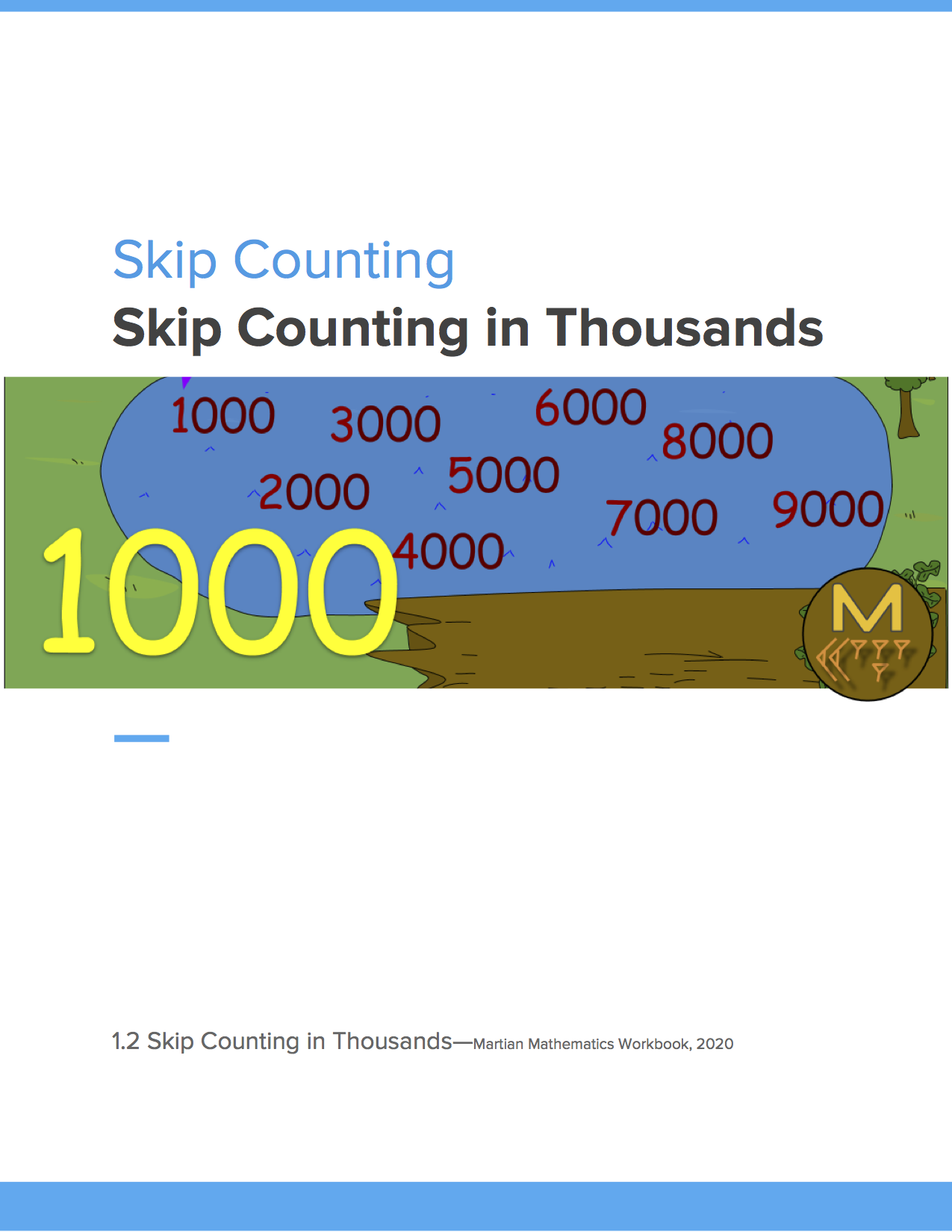 Skip Counting In Thousands Skip Counting Free Math Help Math Number Sense [ 1650 x 1275 Pixel ]