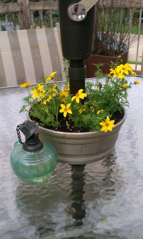 Vintage Angel Food Cake Pan For Flowers Around My Deck Umbrella Pole