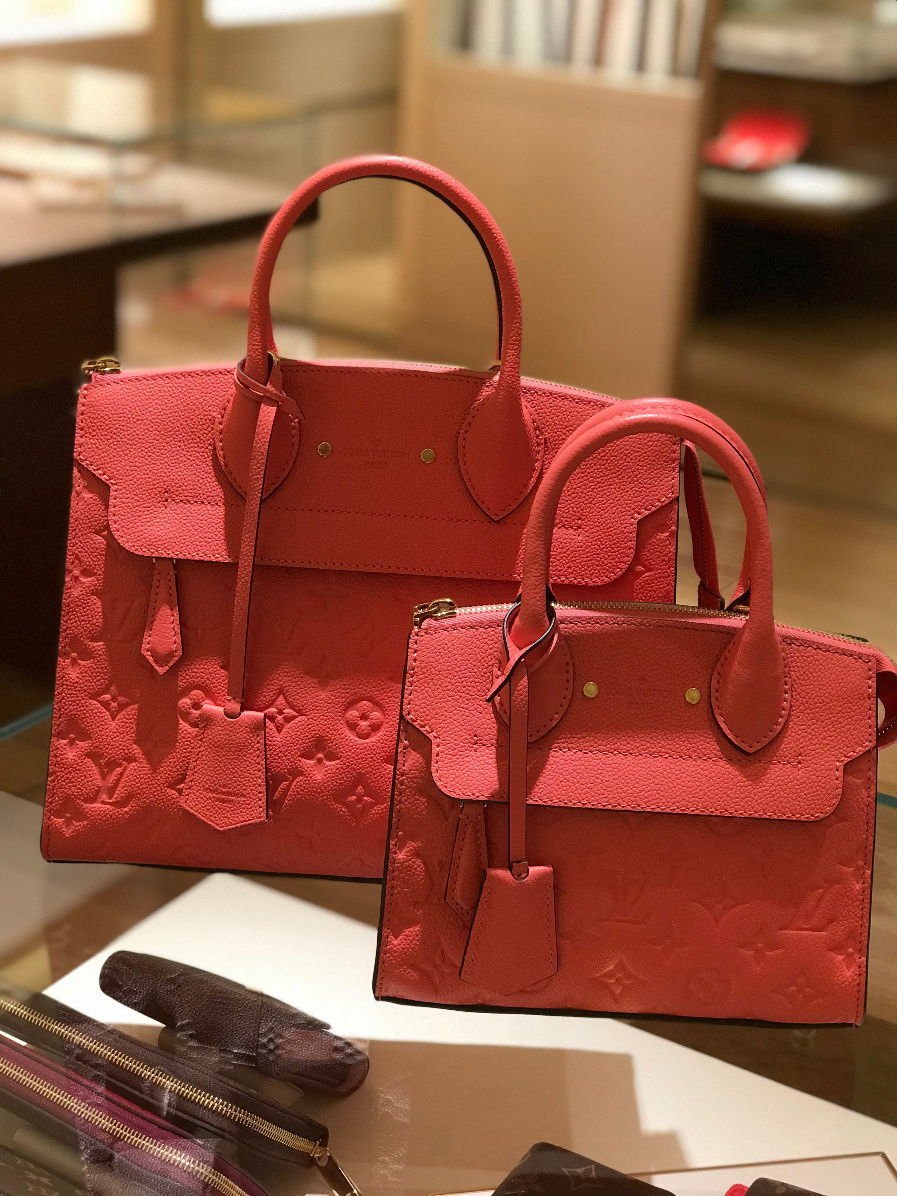 9072bc68 Pont-neuf and Pont-neuf mini in blossom empreinte leather | Louis ...