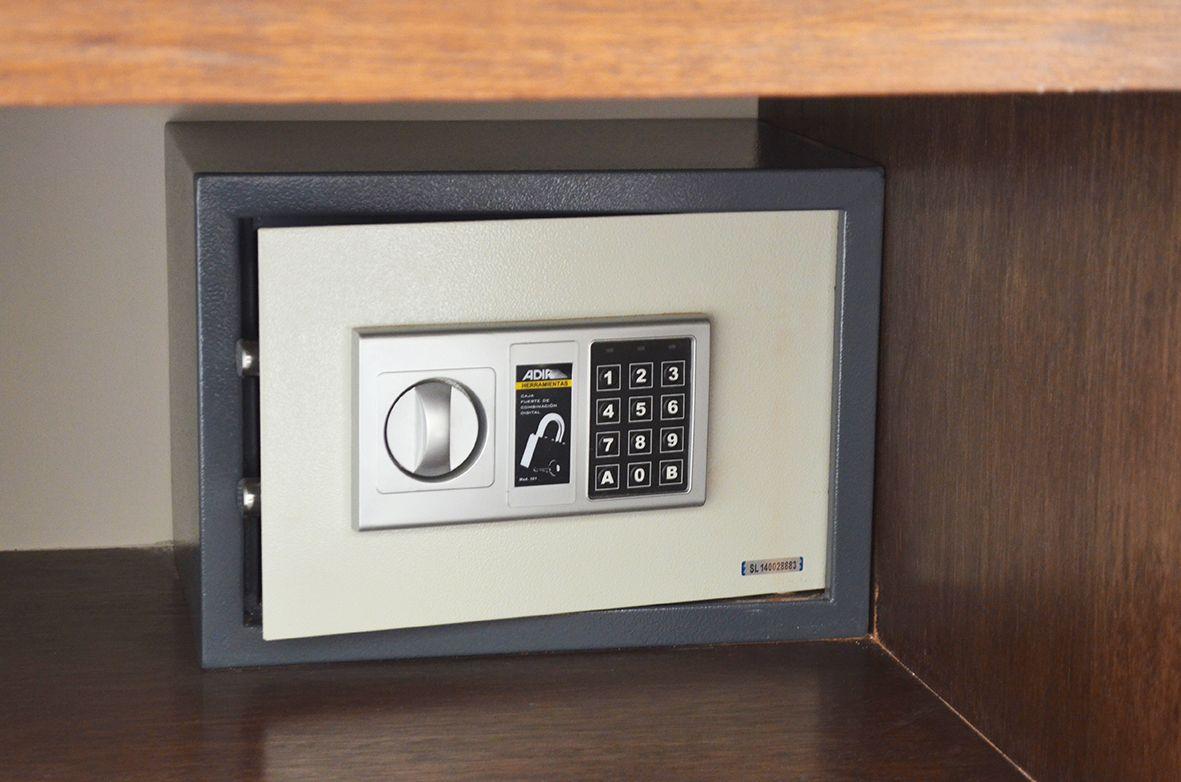 Todas las suites cuentan con caja de seguridad