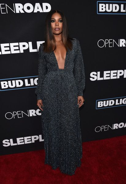 Gabrielle Union Evening Dress Went For Bold Glamour At The Premiere Of