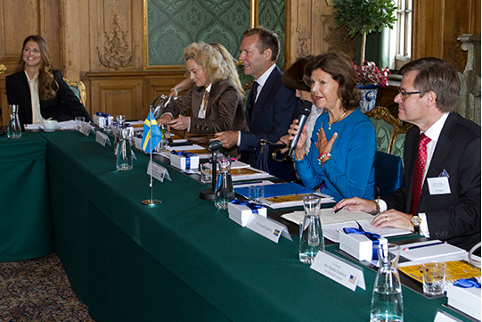 Queens & Princesses - Queen Silvia and Princess Madeleine attended the annual meeting of the World Childhood Foundation, which was held at the Royal Palace in Stockholm. The foundation, established by the Queen, turns 15 this year.