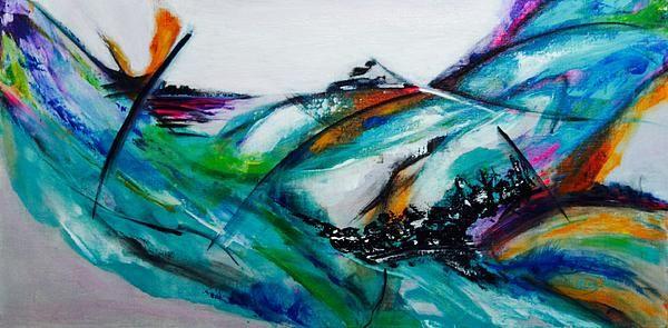 Title  Surf's Up   Artist  Elsa De   Medium  Painting - Acrylic On Canvas